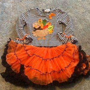 Rare editions size 5 girls thanksgiving dress